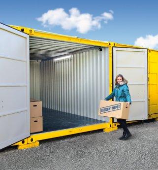 Skladovací kontejner diskont depot